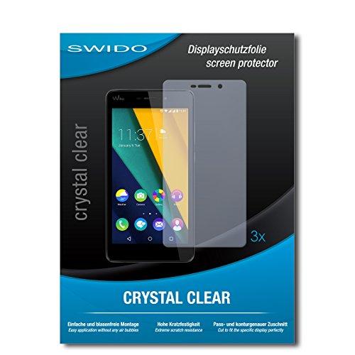 SWIDO Bildschirmschutzfolie für Wiko Pulp Fab 4G [3 Stück] Kristall-Klar, Extrem Kratzfest, Schutz vor Öl, Staub & Kratzer/Glasfolie, Bildschirmschutz, Schutzfolie, Panzerfolie