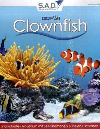 Digifish Clownfish, CD-ROM in EuroboxIndividuelles Aquarium mit Seeanemonen & vielen Fischarten. Für Windows 98/ME/2000/XP/Vista