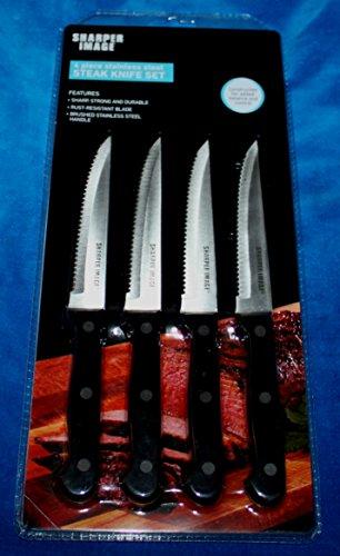 Sharper Image 4 Piece Stainless Steel Steak Knife Set