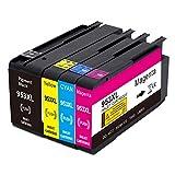 Jagute Cartucho de tinta de repuesto para HP 953 953XL compatible con HP OfficeJet Pro 7720 7730 7740 8210 8218 8710 8715 8718 8720 8725 8728 8730 8740 (1 negro, 1 cian, 1 magentes) enta, 1 amarillo)