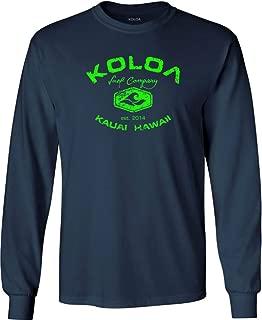 Koloa Surf Vintage Logo Heavy Cotton Long Sleeve T-Shirts in Regular, Big & Tall