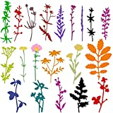 Set de 22 Troqueles de Corte de de Flores Troqueles de Corte de Metal de Flores Tarro de Flores Plantillas Navideñas de Troqueles de Flores de Acción de Gracias para Manualidades, Multicolor