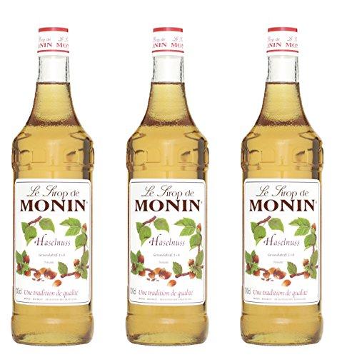 Monin Sirup Haselnuss, 1,0L 3er Pack