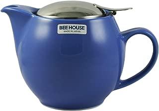 (Blue) - Bee House Ceramic Round Teapot - Blueberry