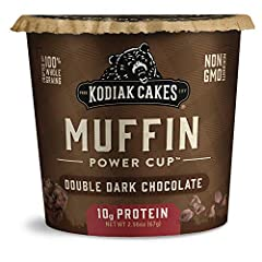 You will receive a Pack of (12) Kodiak Cakes Double Dark Chocolate Muffin Cups, 2.36 Oz 10 grams of protein keep you full and energized Made with 100% whole grains: a good source of B vitamins and antioxidants Non-GMO ingredients Ready to eat in just...