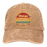 Nsafinhwv Gorras de béisbol Vintage 1971 Gorra de béisbol de algodón Desgastado Lavado Vintage Unisex Gorra de papá de Mezclilla Ajustable