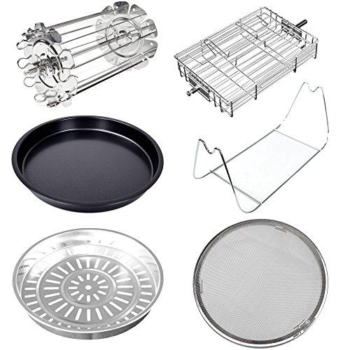 Syntrox Germany Accesoire-Set Zubehör-Set Erweiterung für Turbo-Heißluftfritteuse Fritteuse Air-fryer