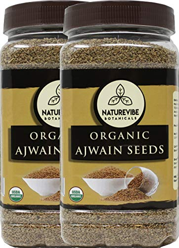 Naturevibe Botanicals Ajwain Seed (2lbs) (2 pack of 1lbs Each) | Trachyspermum ammi | Non GMO & Gluten Free | Helps in Digestion | Adds Flavour.