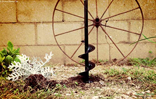 """Power Planter 100% USA Made 3""""x24"""" Extended Length Bulb & Bedding Plant Auger w/ 3/8"""" Hex Drive 4 100% MADE IN THE USA, with USA sourced materials. Made by family farmers for over 30 years for your garden *Patent Pending Design* Non-Slip hex drive"""