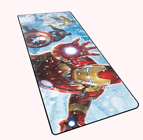 WYQLZ Gaming Mouse Pad Large Mouse Mat The Avengers Superhero Spider Man Iron Man Thanos Game Keyboard Mat Extended Mousepad for Computer PC (Color : 19, Size : 800x300x4mm(XL))