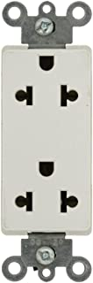 Leviton 5825-W 15-Amp-125/250-Volt, Decora Universal Duplex Receptacle, Back and Side Wired, White