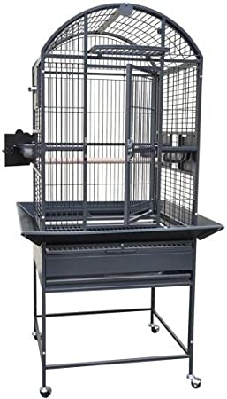 Kings Cages 9002422 Parrot CAGE 24x22x60 Dome Top Bird Cage with New Locks