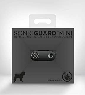 SonicGuard Mini | Black Ultrasonic Repeller | Rechargeable Chemical-Free Pet Accessories for Flea Prevention and Tick Control