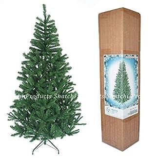 SHATCHI – Árbol de Navidad Artificial (1,5 m, 390 Puntas, con Soporte de Metal, decoración del hogar, plástico, 1,5 m)