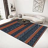 Alfombra Gateo Alfombra Azul, antifatiga Moderna cómoda Lavable con Agua Alfombra alfombras Modernas -Azul_200x250cm