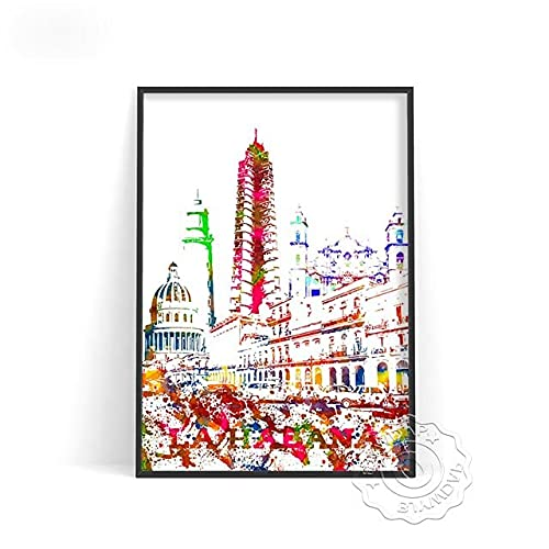 linbindeshoop Color World City Poster York Paris Moscow Wall Art Dubai Roma Wall Stickers San Francisco Rio De Janeiro Travel Poster(LT-379) 50x70cm No frame