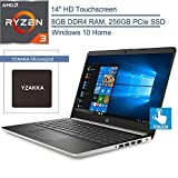 2020 HP 14 14' Touchscreen Laptop Computer, AMD Ryzen 3 3200U up to 3.5GHz (Beats i5-7200U), 8GB DDR4 RAM, 256GB PCIe SSD, 802.11AC WiFi, Bluetooth 4.2, HDMI, USB Type-C, Windows 10, YZAKKA Mouse Pad