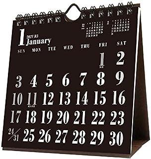 卓上 BLACKスケジュール 2021年カレンダー 21CL-0650 (おまけシール付)