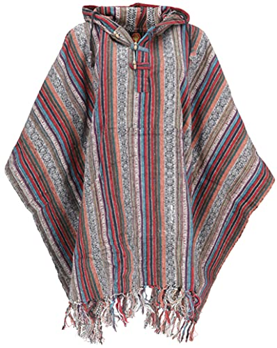 GURU SHOP Poncho estilo hippie chic, poncho étnico, poncho Anden, para hombre y...