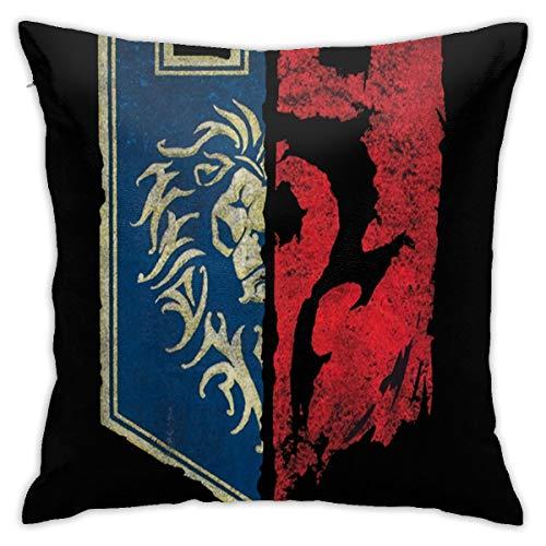 N / A World of Warcraft for The Horde - Cojín de fibra de cojín (45 x 45 cm, cómodo y suave)