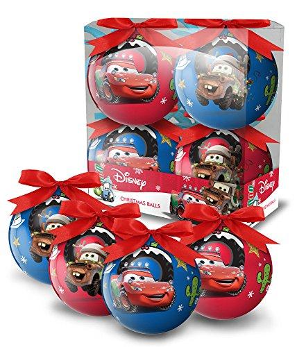 Cars – Disney – Juego de 4 bolas de Navidad – 7997