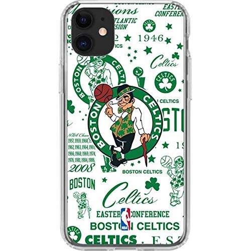 Skinit Clear Phone Case for iPhone 11 - Officially Licensed NBA Boston Celtics Historic Blast Design