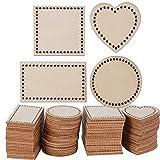 ✿ Il pacchetto include: 100pz dischi legno fette ✿ 4 diverse forme: quadrato, rotondo, cuore, rettangolare. ✿ Materiale: legno naturale. Entrambi i lati sono finemente lucidati. ✿ Spessore: circa 2mm. Dimensione di quadrato: circa 4cm. Diametro di ro...