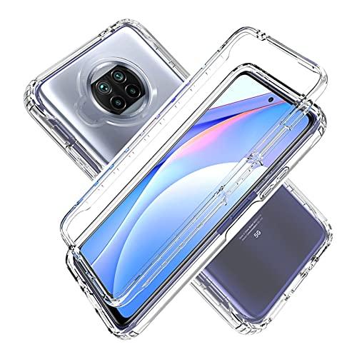 LXHGrowH Funda Xiaomi Redmi Note 9T 5G - Carcasa Completa Anti-Shock [360°] Full Body Protección [Silicona TPU Frente] y [Duro PC Back] para Xiaomi Redmi Note 9T 5G - Cover Doble [Transparente]