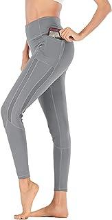 Dawwoti Running Tights for Women Slimming Yoga Leggings Tummy Control Yoga Pants