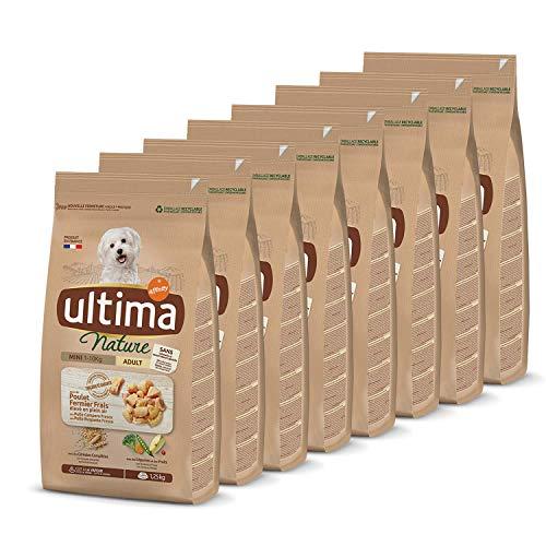 Ultima Nature Croquettes pour Chien Mini Adulte au Poulet: Pack 8 x 1,25 kg - Total: 10 kg