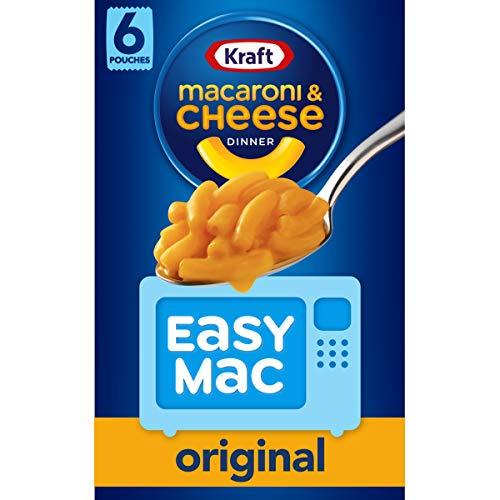 Kraft Easy Mac Original Macaroni & Cheese Microwavable Dinner (6 ct Packets)