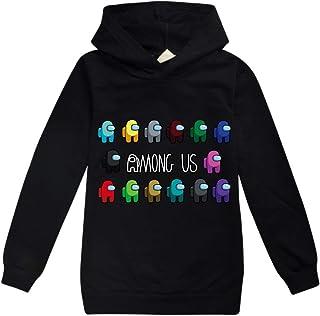 Game Among Us Hoodie Long Sleeve Top Pullover Boys Girls Sweatshirt Kids Casual Sportswear Tops