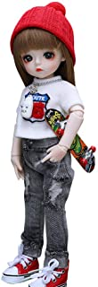 UCanaan BJD Doll, 1/6 SD Dolls 12 Inch 18 Ball Jointed Doll DIY Toys with Full Set Clothes Shoes Wig Makeup, Best Gift for Girls-Xaar