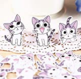 XXCKA Kreative süße selbstgemachte Katze Aufkleber Scrapbooking Aufkleber/dekorative Aufkleber/DIY...