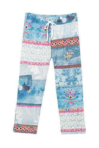 Desigual 18SNPK075151 - Pantalones de Pijama - Exotic Summer (M)