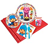 BirthdayExpress Pocoyo Party Tableware Pack for 16 Guests, Multi-colored, One Size (254265)