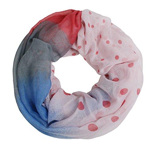 Glamexx24 Glamexx24 XXL Punkte - Print Loop Schal warme und weiche Schlauchschal Farbverlauf Tuch Damen