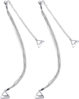 KESYOO 2pcs Woman Bra Shoulder Strap Tassel Non-Slip Underwear Buckle Shoulder Strap Adjustable Shoulder Girdle (Silver, 2.2 Hook)