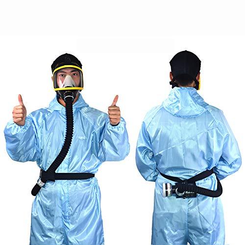 Isunking Sicherheits-atemschutzmaske – Elektrischer Konstanter Durchfluss Mit Luftzufuhr Für Das Ganze Gesicht, Tragbares Spray Malwerkzeug, Atemschutzsystem (Gelb)