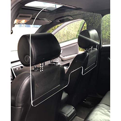 la galaica | Mampara de Metacrilato Transparente | Pantalla de Protección para Taxis, Vehículos | Fácil Montaje | Sujeción con Bridas (Incluidas) | Medidas de 1000 x 500 cm y 2 mm
