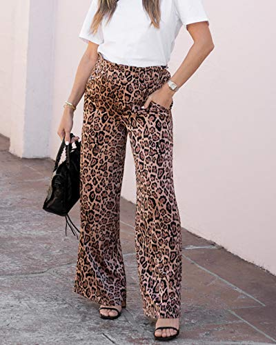 The Drop Women's Leopard Print High-Rise Wide-Leg Pull-On Pant by @sivanayla