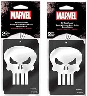 Punisher Skull Paper Air Freshener x 2 Packs (4 pcs Total)