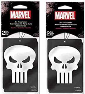 Punisher Skull Paper Air Freshener x 2 Packs (4 pcs Total)