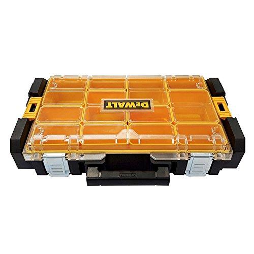 DeWalt Tough Box DS100 Werkzeugbox/ Werkzeugkiste (Organizer für Kleinteile und Zubehör, Staub- und Sprühwassergeschützt nach IP53, kratz- und schlagfester Polycarbonat-Deckel) DWST1-75522