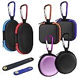 Tragbare 6-teilige Ohrhörer-Hülle mit Kabelclip & 2 Kopfhörer-Kabelklemmen, AIFUDA Mini Hard Eva-Tragetasche Aufbewahrungstasche für Ohrhörer-Ohrhörer Bluetooth-Headset U-Disk