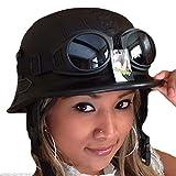 Chopperhelm -S- + Brille Bikerhelm -S- + Brille Roller-Helm -S- + Brille Jethelm -S- Cooler Helm -S- incl. Motorradbrille