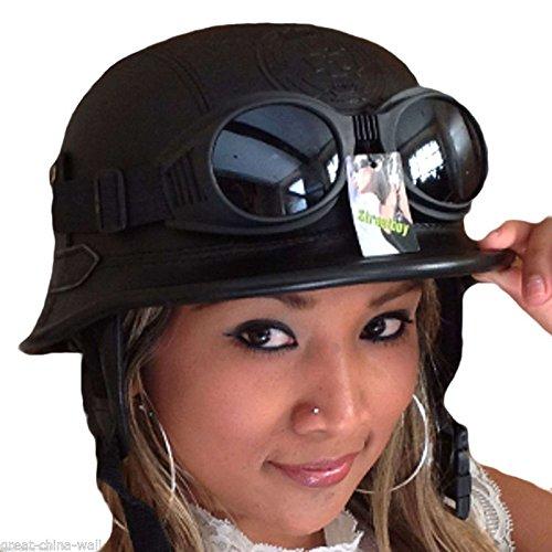 Kenai Chopperhelm -L- + Chrom-Brille Bikerhelm -L- Roller-Helm -L- + Chrom-Brille Jethelm -L- + Chrom-Brille Cooler Helm -L- incl. Chrombrille