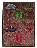 Decofloor - Zerbino igienico, a due zone, per disinfezione di scarpe, in tappeto per ingresso, colore: marrone, 133 x 180 cm