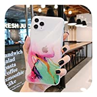 HUJEA Compatible for iPhone 12 11 Pro Max XR XS Max 7 8 Plus XSEフルボディソフトIMDクリアバックカバーCoque用のヴィンテージカラフルな電話ケース-2-For 12 Pro Max (6.7)
