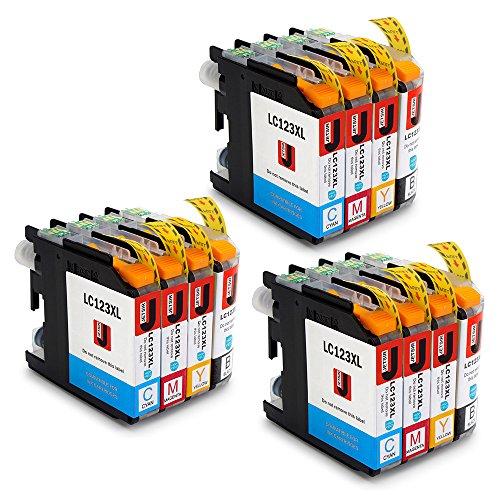 JETSIR LC123XL Alta capacidad Compatible Cartuchos de tinta Reemplazo para Brother LC123 con Brother DCP-J132W J152W J552DW J752DW J4110DW,MFC-J4410DW J4510DW J470DW J870DW J6520DW J6720DW J6920DW
